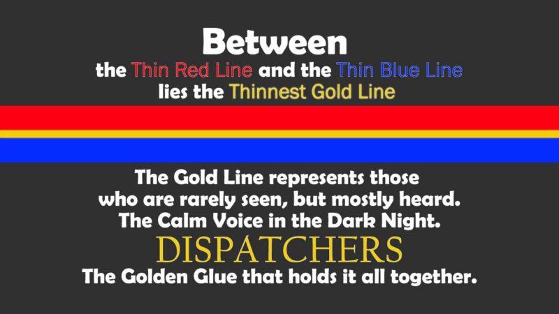 Dispatchers & Telecommunicators Thin Gold Line