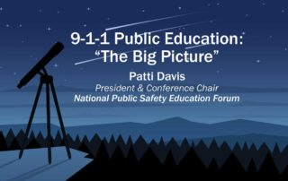 9-1-1 Public Education: The Big Picture