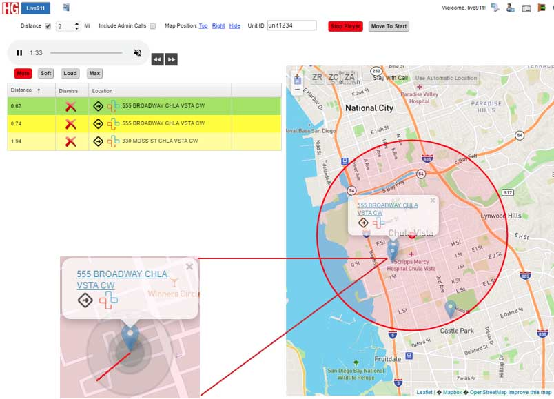 Live911 Caller Mapping