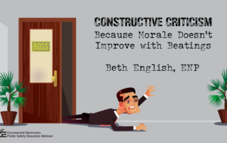 Constructive Criticism: Because Morale Doesn't Improve with Beatings